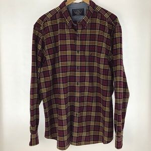 Nautica Shirt Men's Sz XXL Button Down Plaid